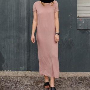 LACAUSA Dusty Pink Maxi Dress